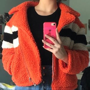 Topshop Faux Wool Jacket